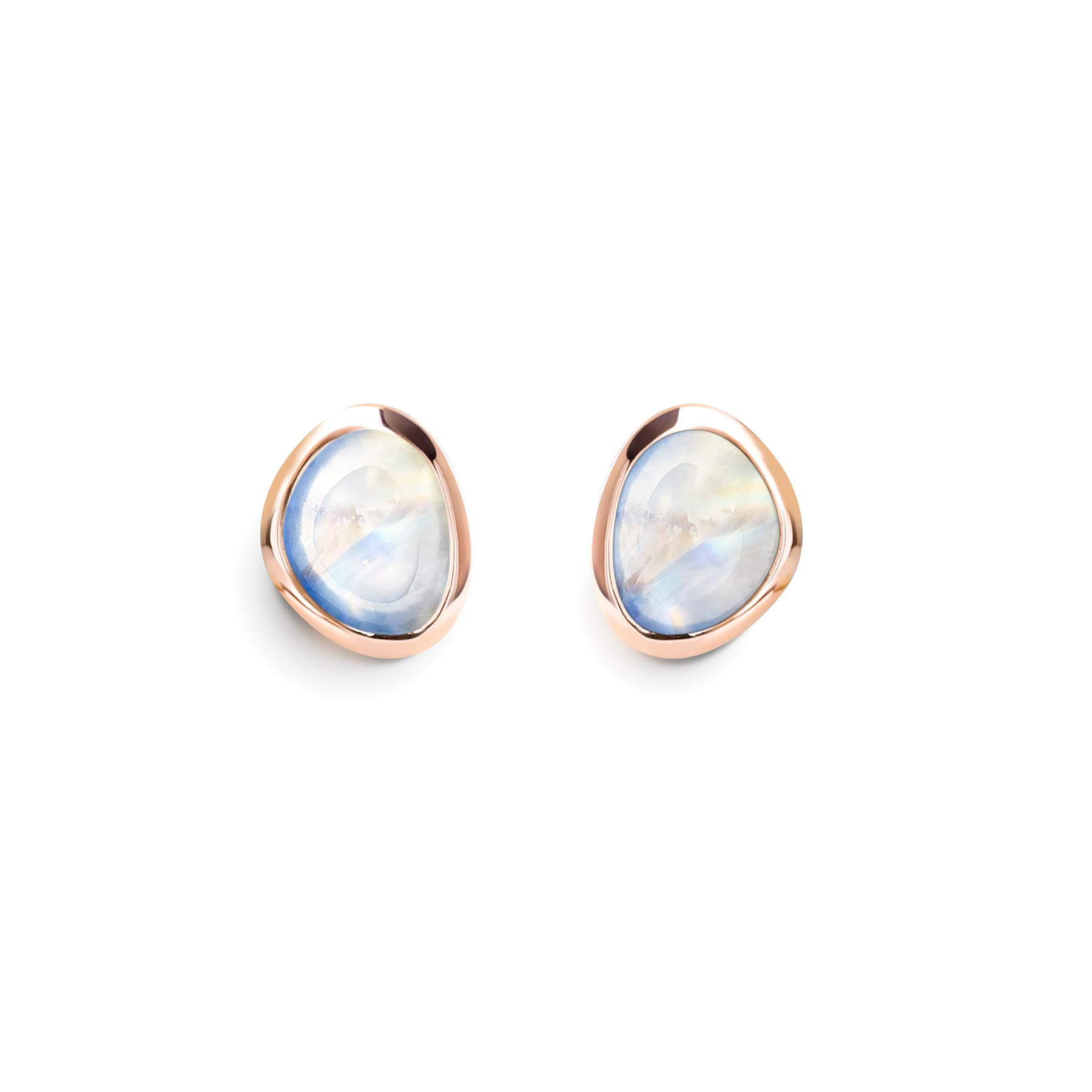 cbf9a5237 Alluressories | Minetta Mini Stud Earrings - Rose Gold - Moonstone