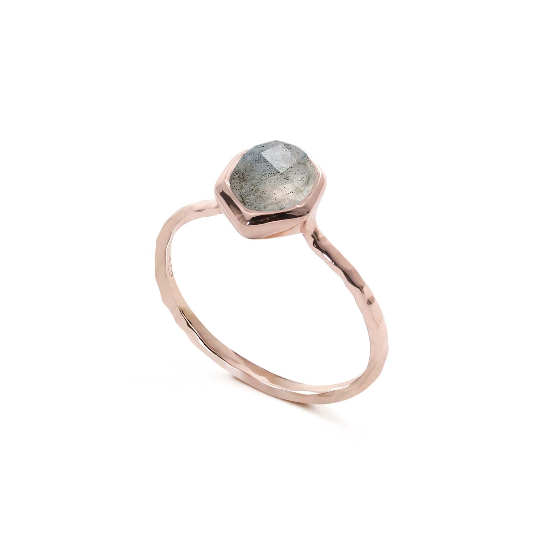 d59e4c73d3 Alluressories | Astoria Ring - Rose Gold - Labradorite